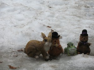 Gus, Gordo, Bunny and Froggy in the Snow